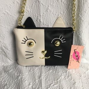 Betsey Johnson cat Crossbody Bag